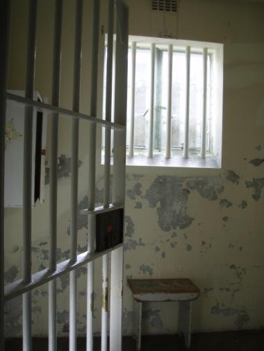 Robben Island prison cell, similar to Nelson Mandela's