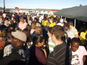 the dance floor at Gugulethu