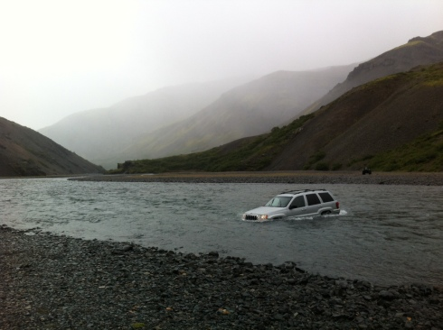how to cross a river in a car