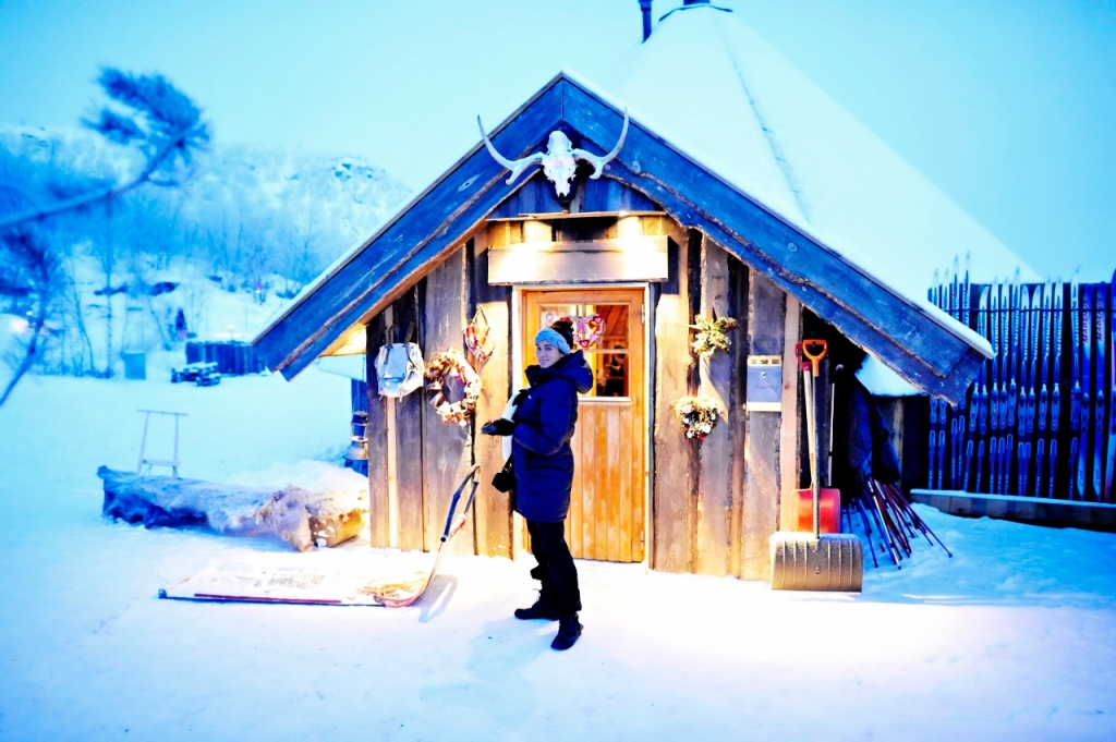 the Snowhotel´s restaurant, in an adjacent cabin