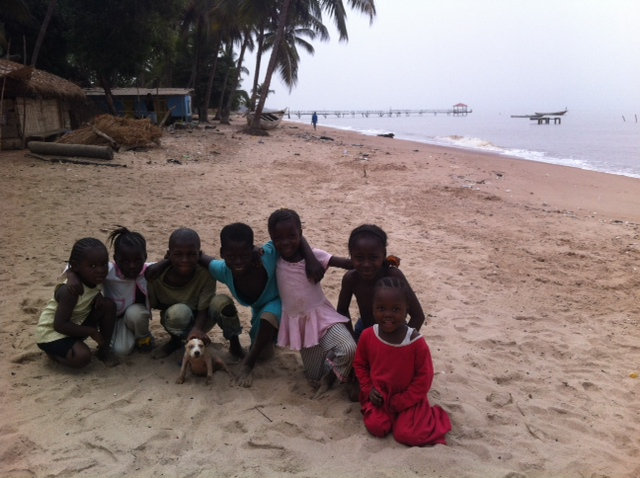 my Freetown goodbye party was thrown by these kids