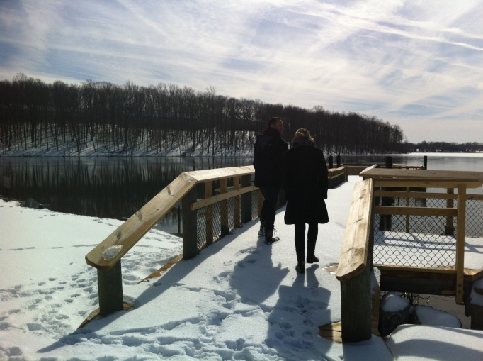 a snow stroll on Little Seneca Lake