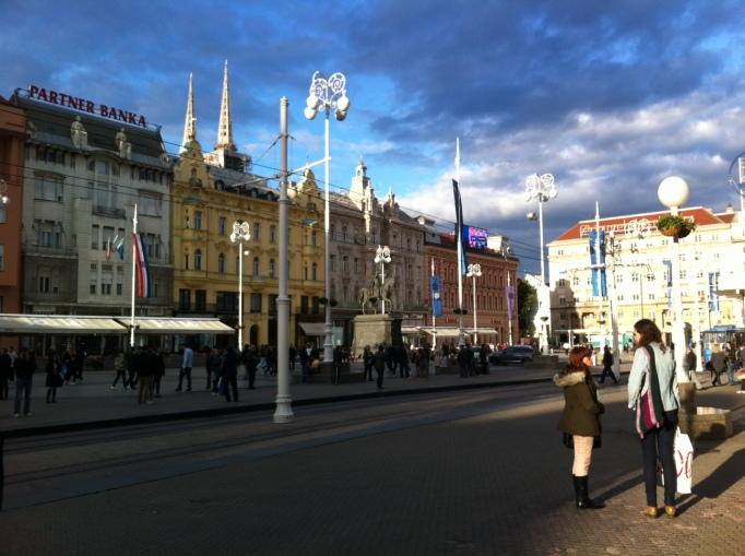 the lower town square of Zagreb