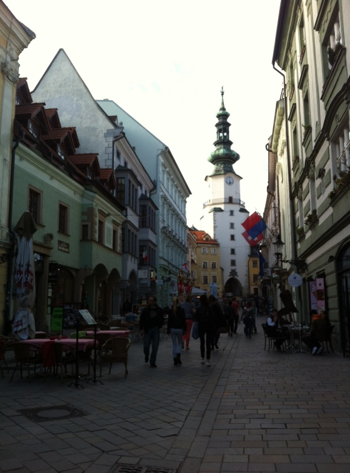 the church tower in Bratislava