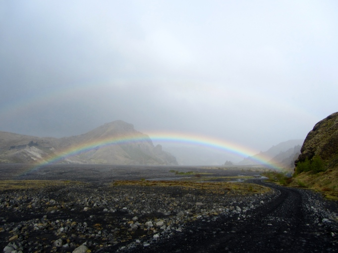 rainbow over Þórsmörk