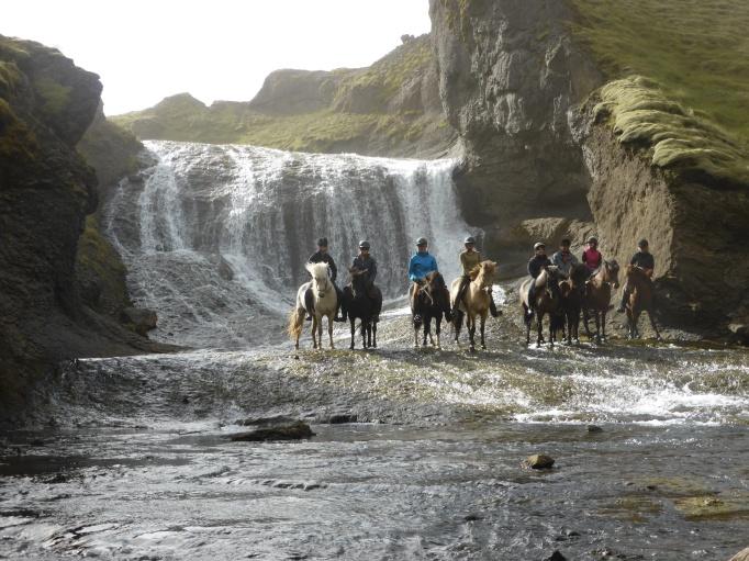 one of many stunning waterfalls