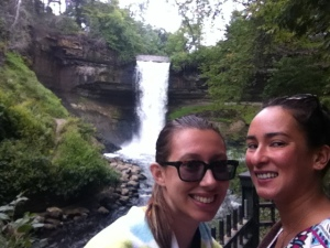 Me and Clio at Minnehaha Falls