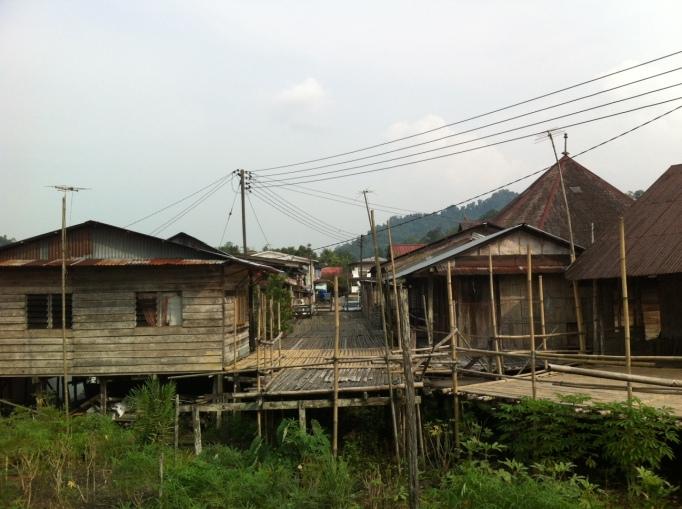traditional Sarawak longhouses