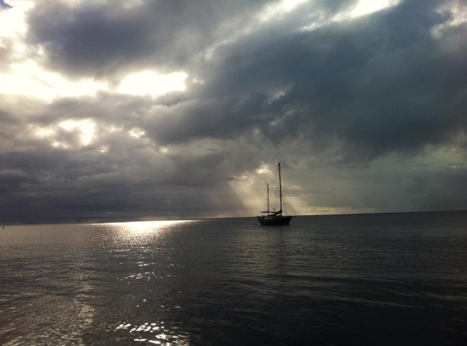 the Karaka sail boat