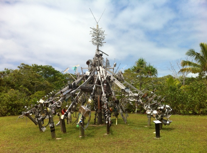 Niue's sculpture garden, made of rubbish