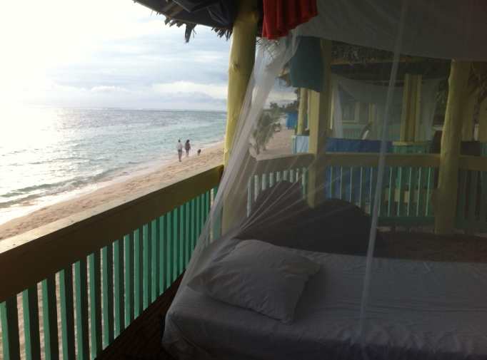 my princess bed in the beach fale I called home for the night