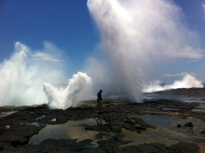 there were more tourists in Savai'i, to see attractions like these blowholes at Alofaaga