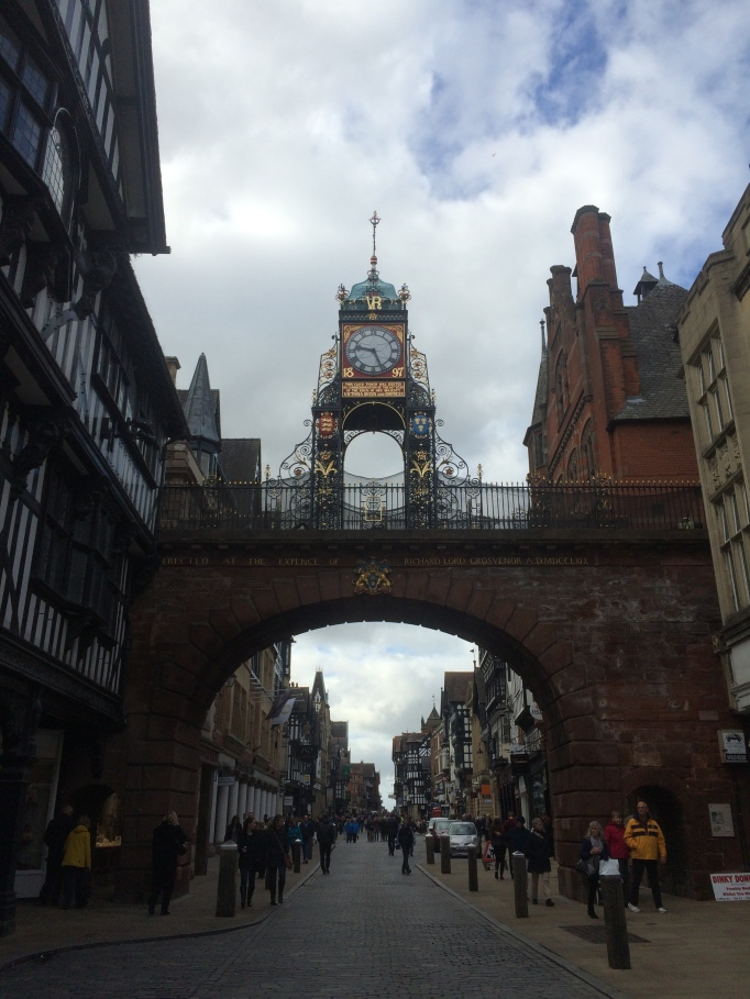 the famous clocktower of Chester