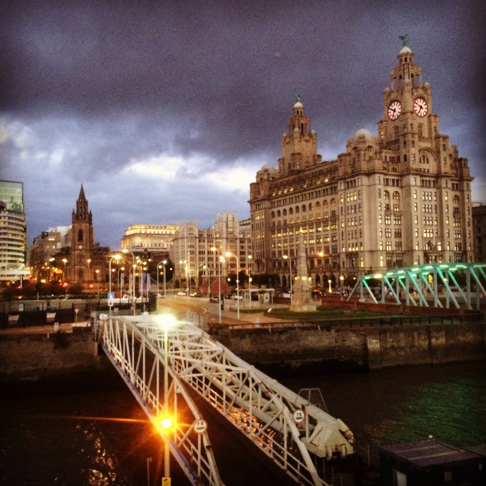 the Royal Liver Building in Liverpool's ferry port