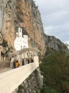 Ostrog Monastery in the rock