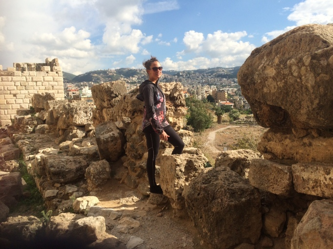 on top of Byblos' citadel