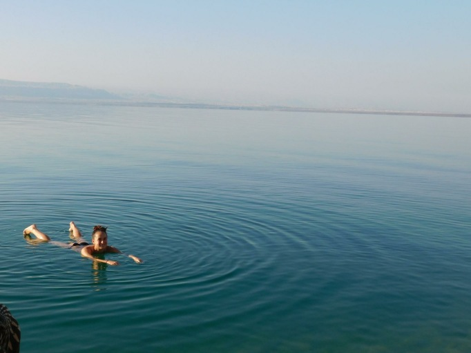 weightless in the Dead Sea