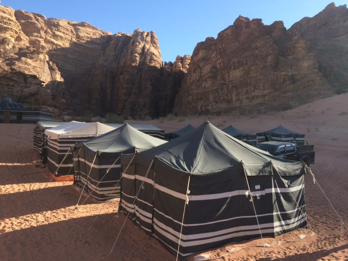 home base in the Wadi Rum desert