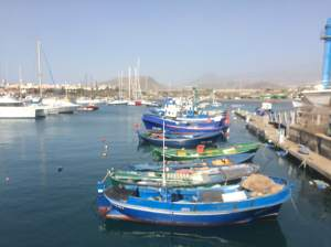 the harbour in Las Galletas