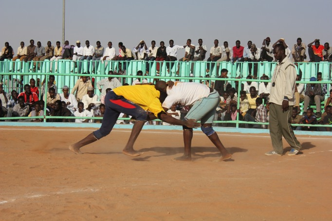 A Nuban wrestling match
