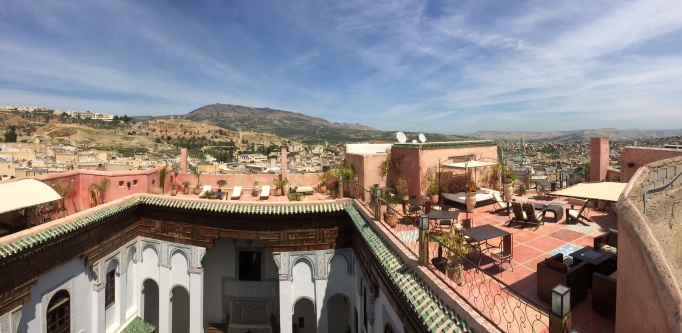 the view from Dar Finn, our hotel in Fes