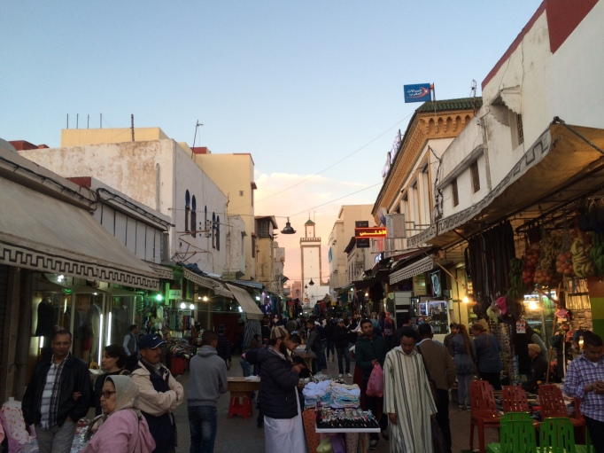 the old souk of Rabat nearing sunset