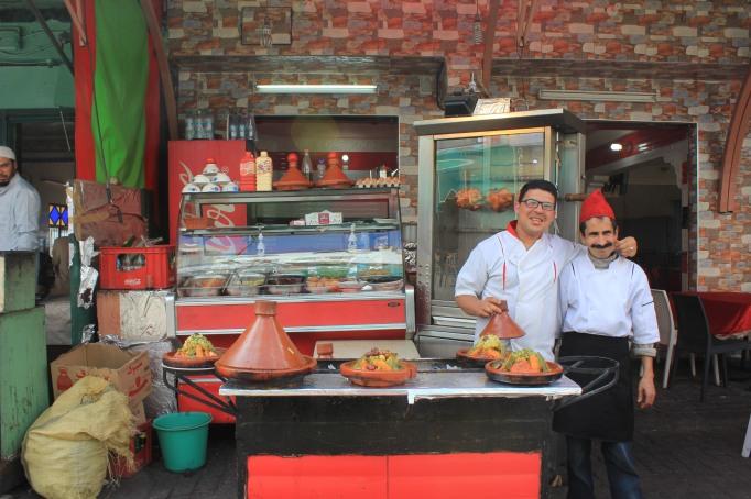 street food sellers having a ball