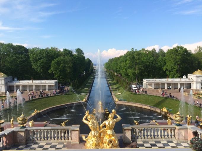 Peterhof garden
