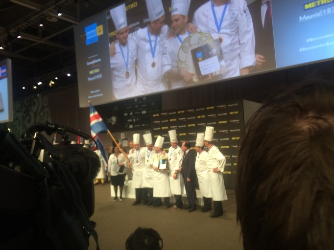 Viktor and team Iceland win the best fish dish!