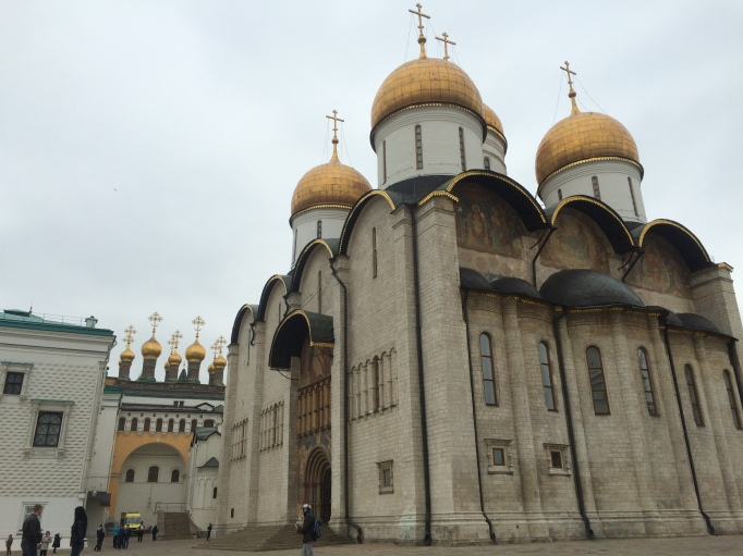 The Cathedral square is just that, a square full of gold domed cathedrals