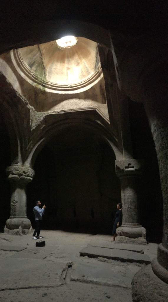 inside Gerhard stone church, a place of very special acoustics and echoes
