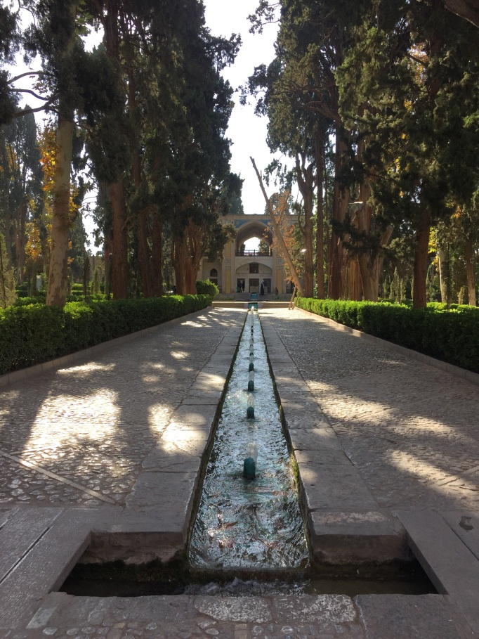 One of the many beautiful gardens, this one in Fin, Kashan