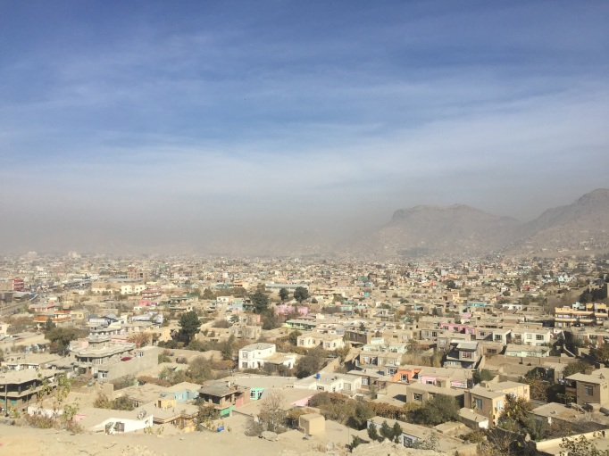 Kabul from afar - a little more inviting than on the streets beside the walls and barbed wire