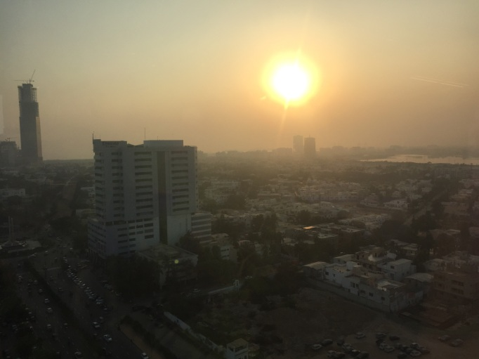 Karachi at sunset