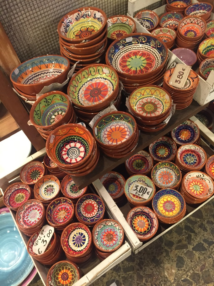 I love Spanish pottery and the colourful decor