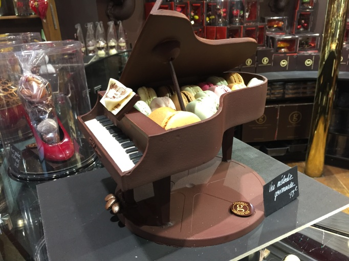 can't get enough macaron's either, especially inside a chocolate piano